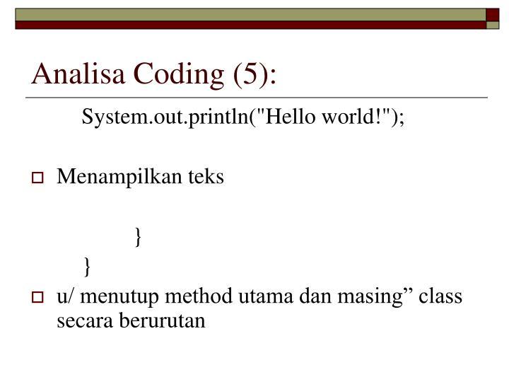 Analisa Coding (5):