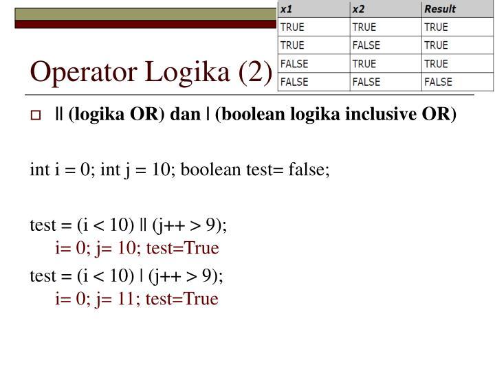 Operator Logika (2)