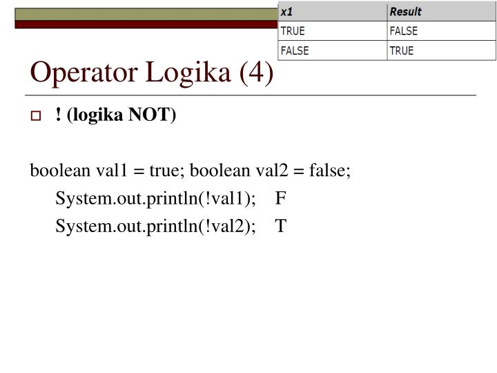 Operator Logika (4)