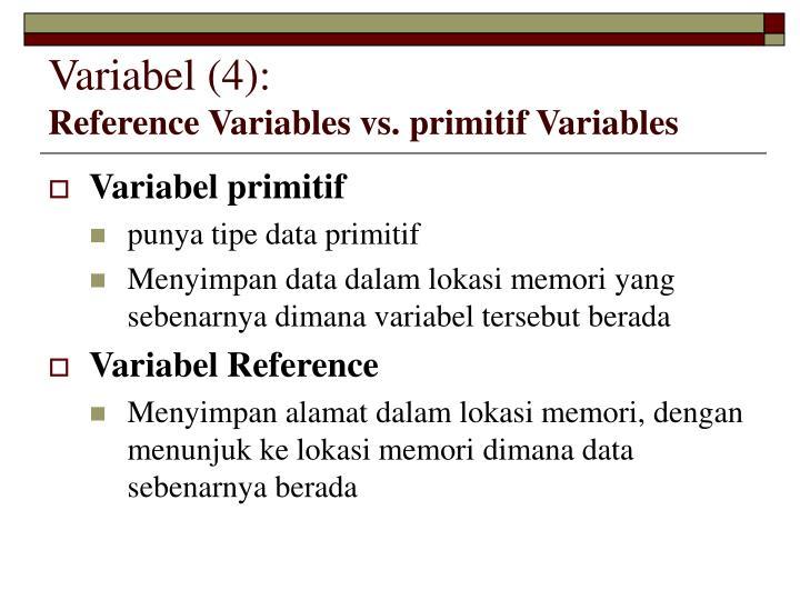 Variabel (4):