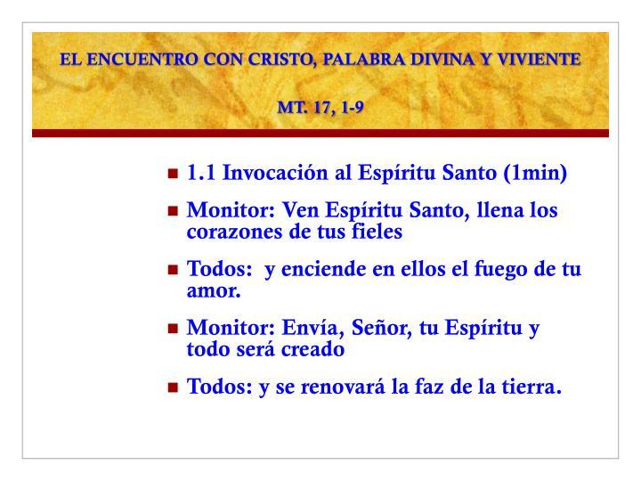 EL ENCUENTRO CON CRISTO, PALABRA DIVINA Y VIVIENTE