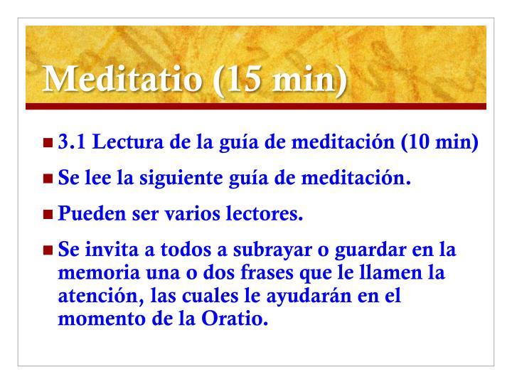 Meditatio (15