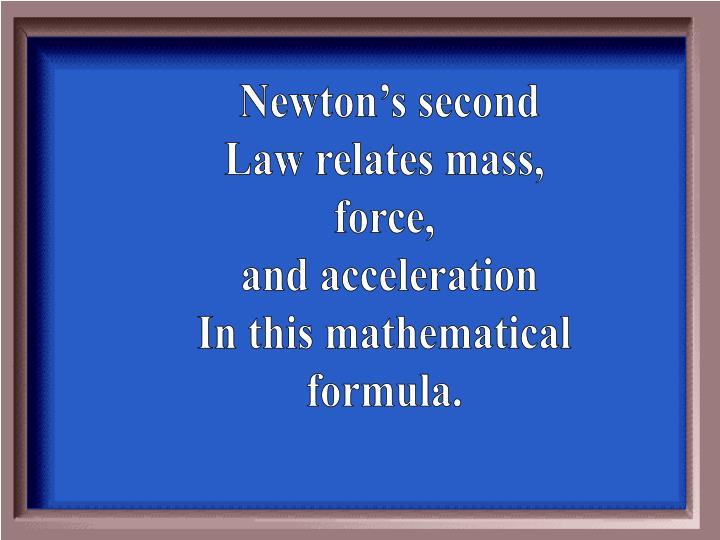Newton's second