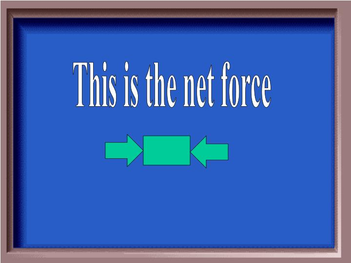 This is the net force