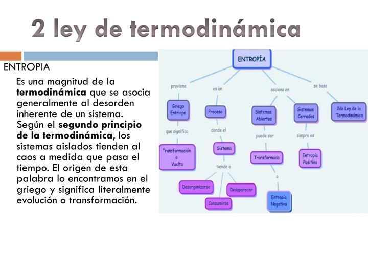 2 ley de termodinámica