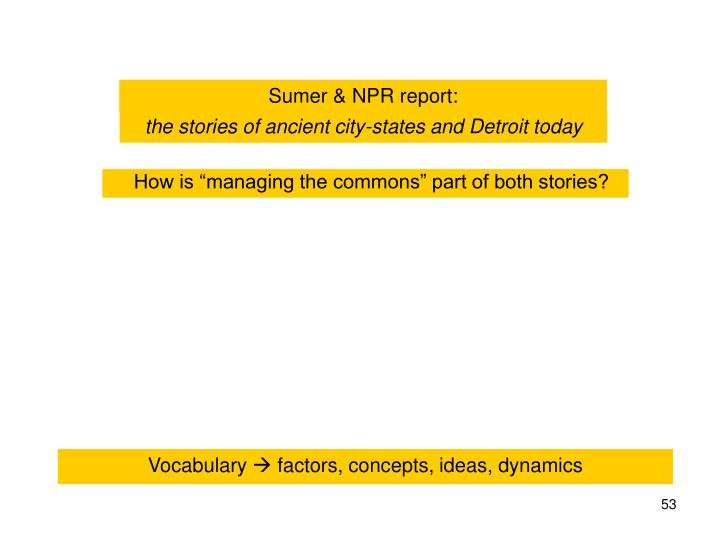 Sumer & NPR report: