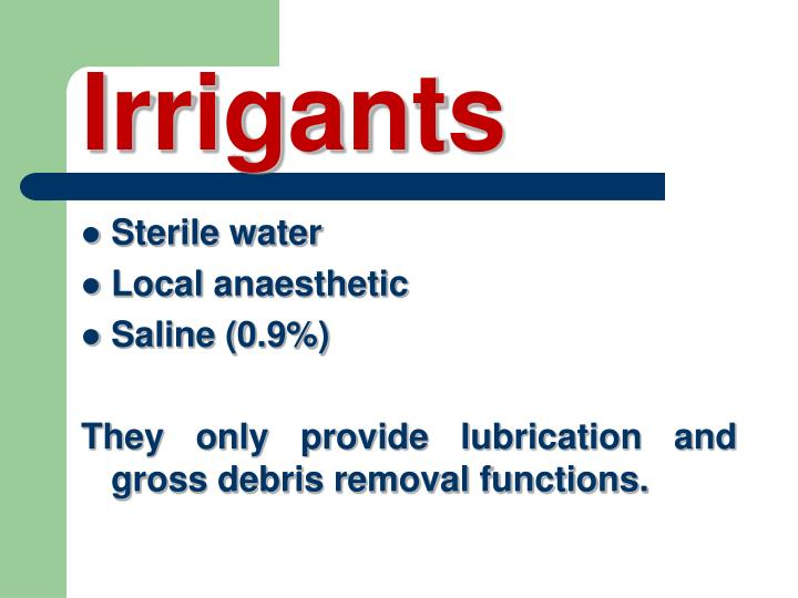 Irrigants