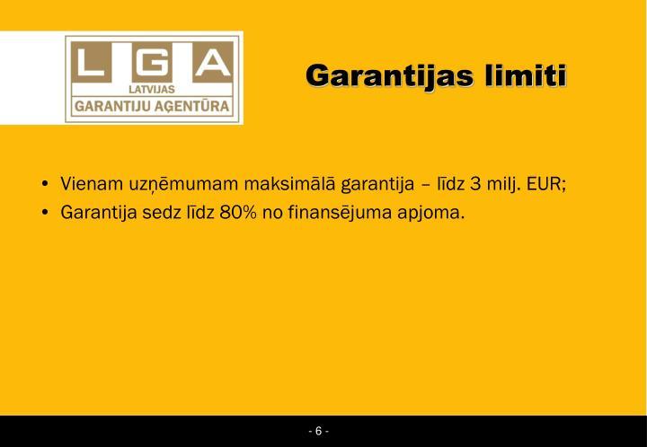 Garantijas limiti