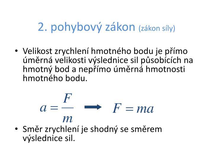 2. pohybový zákon