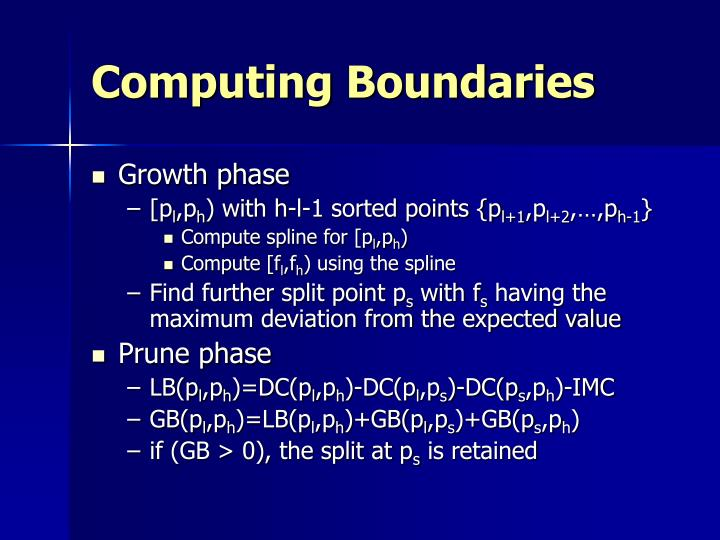 Computing Boundaries