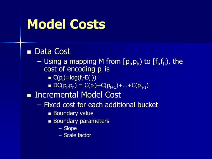 Model Costs