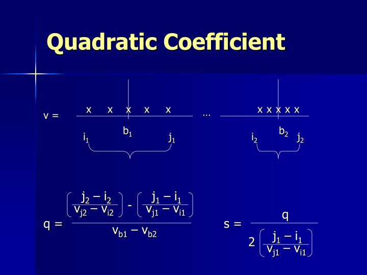 Quadratic Coefficient