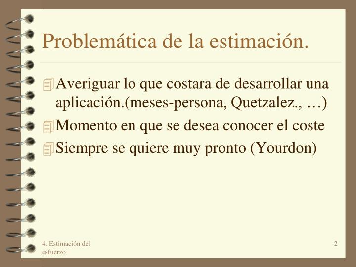 Problem tica de la estimaci n
