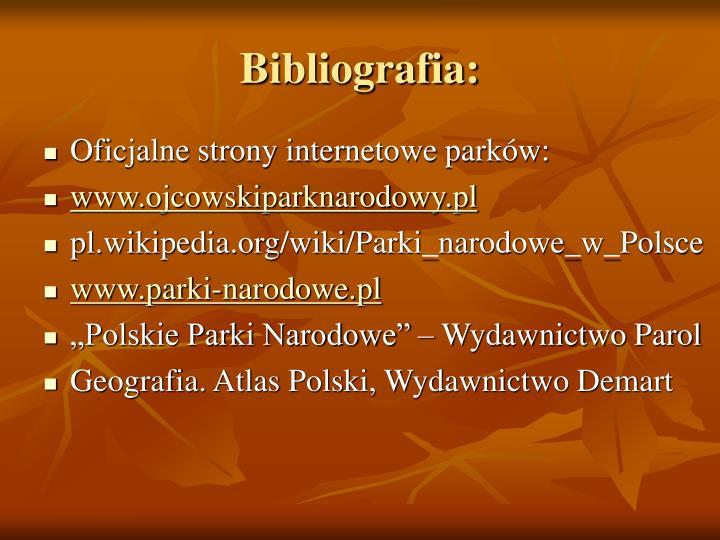 Bibliografia: