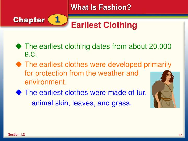 Earliest Clothing