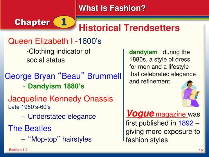 Historical Trendsetters