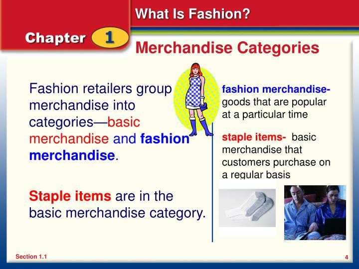 Merchandise Categories