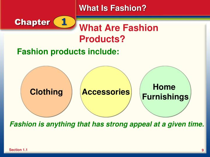 What Are Fashion Products?