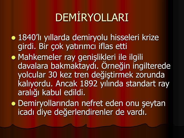 DEMİRYOLLARI