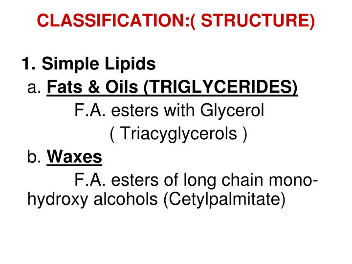 CLASSIFICATION:( STRUCTURE)