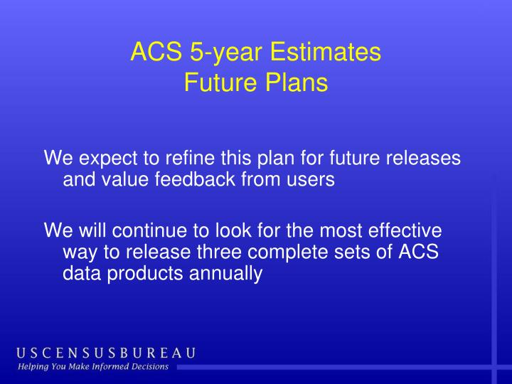 ACS 5-year Estimates