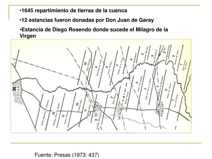 1645 repartimiento de tierras de la cuenca