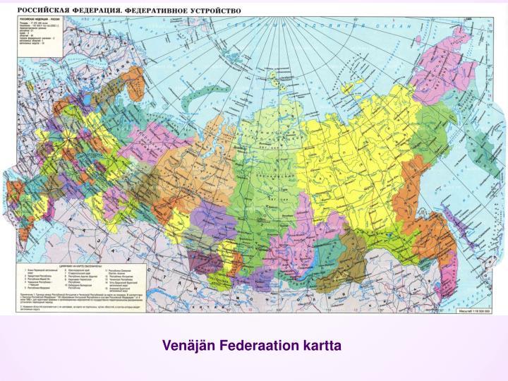 Venäjän Federaation kartta