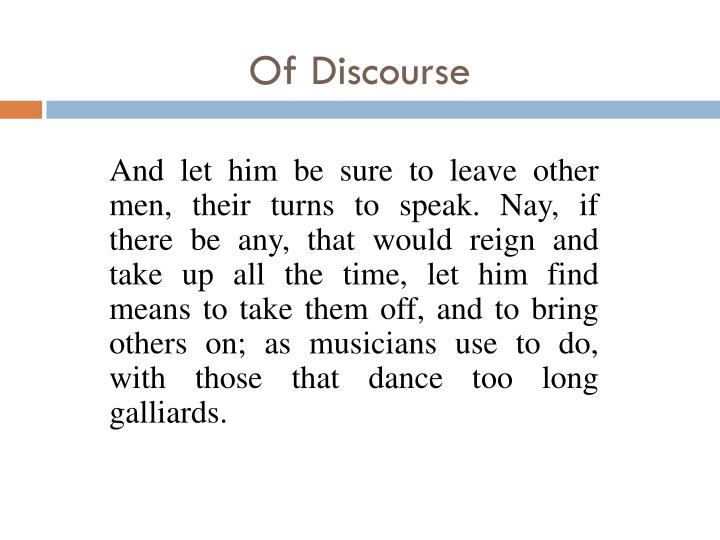 Of Discourse