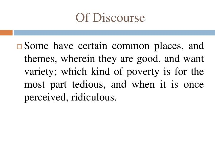 Of discourse2