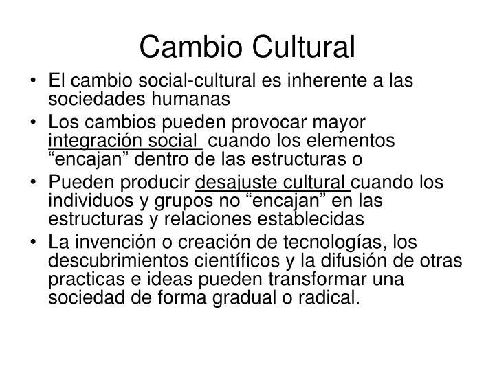 Cambio Cultural
