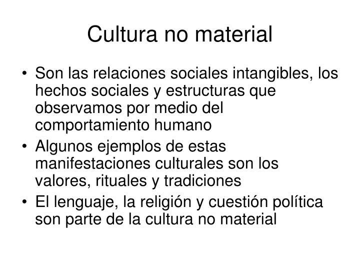 Cultura no material