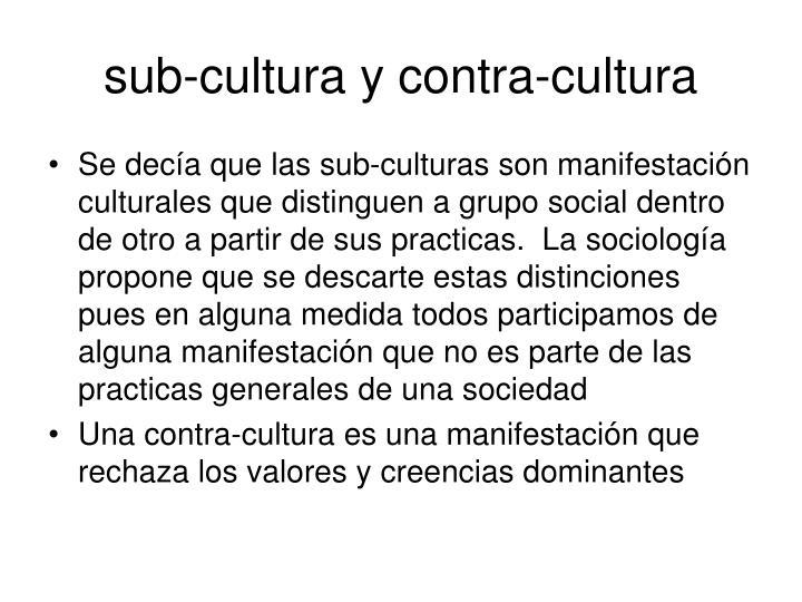 sub-cultura y contra-cultura