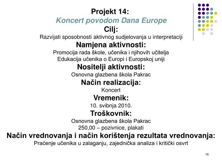 Projekt 14: