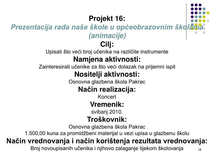 Projekt 16: