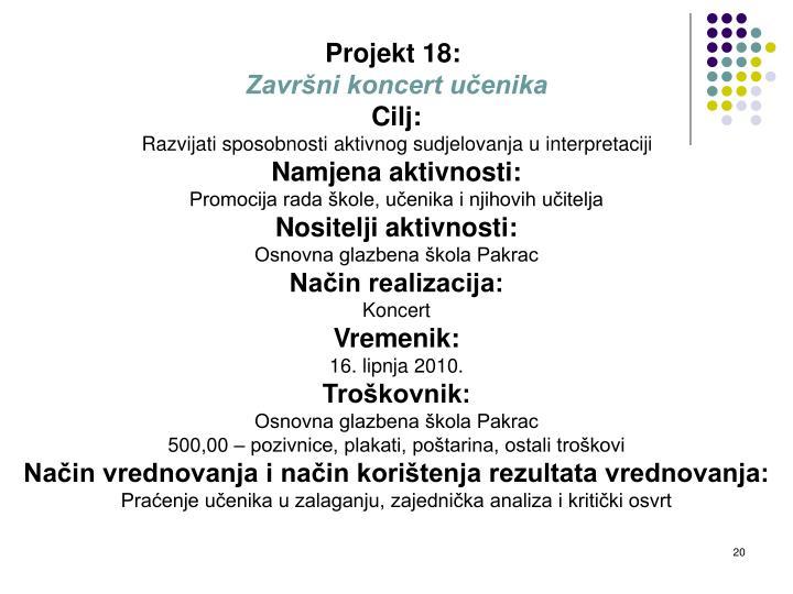 Projekt 18: