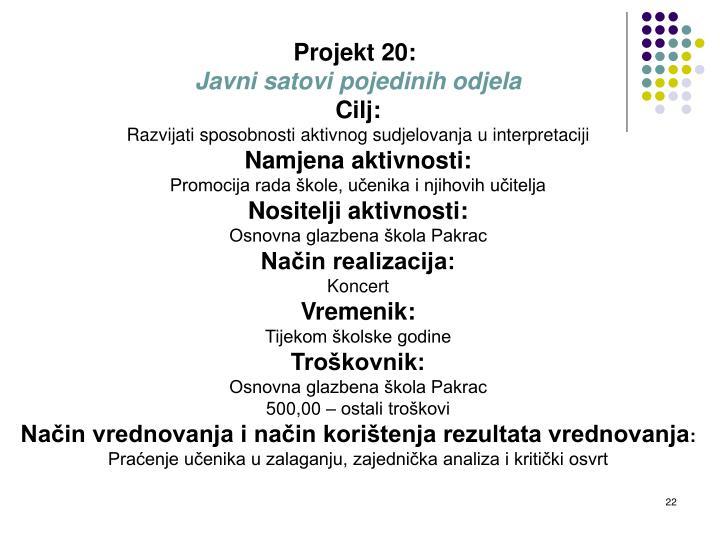 Projekt 20: