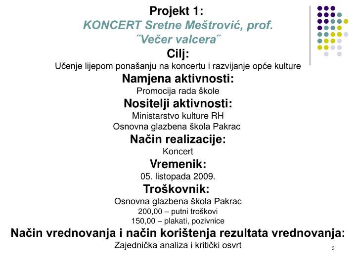 Projekt 1: