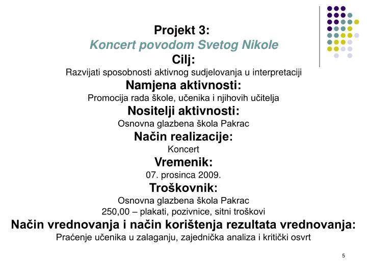 Projekt 3: