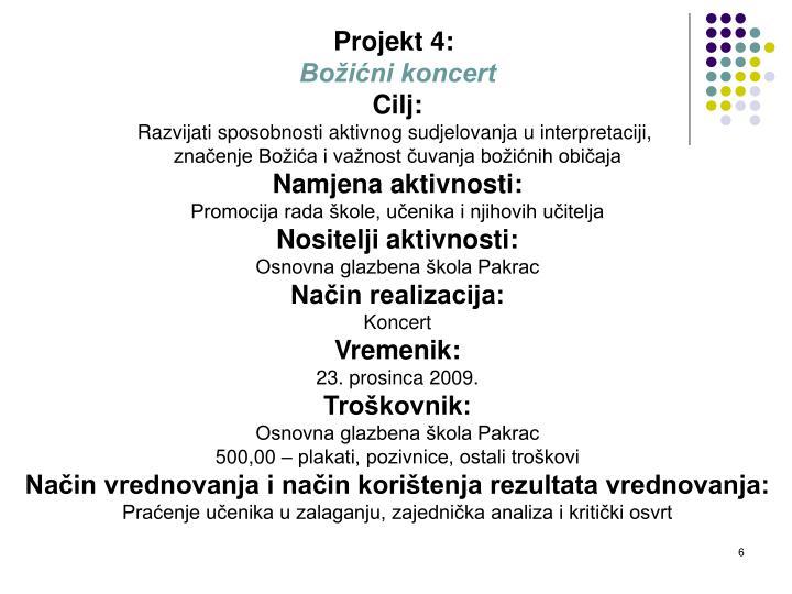 Projekt 4: