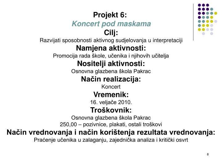 Projekt 6:
