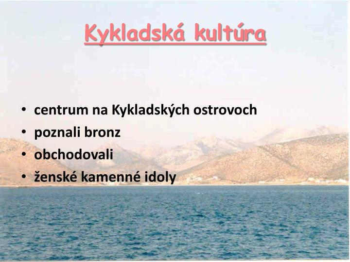 Kykladská kultúra