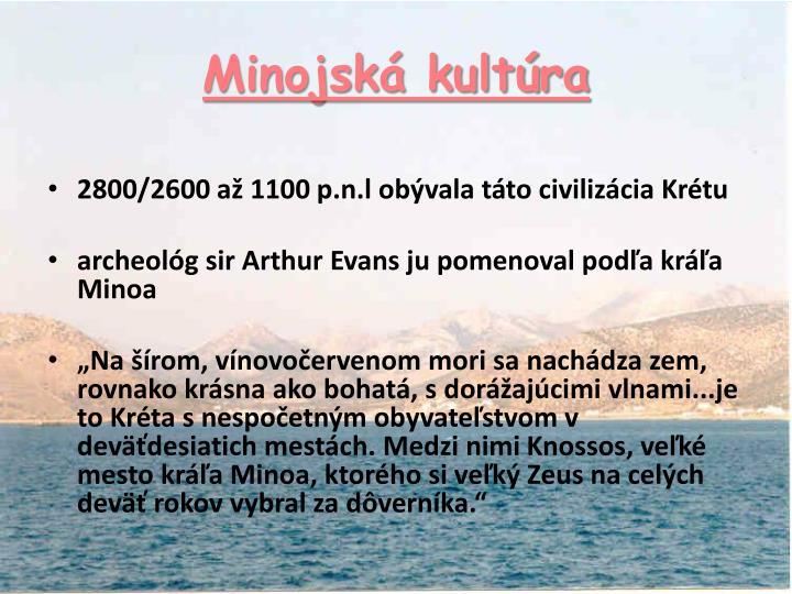 Minojská kultúra