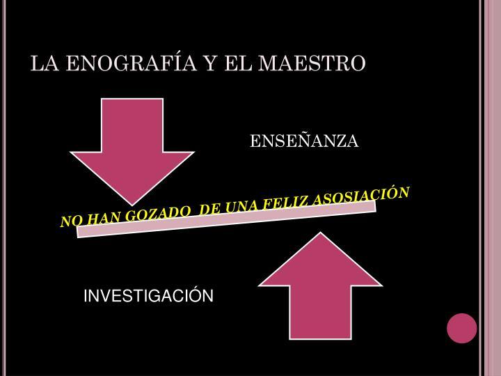 LA ENOGRAFÍA Y EL MAESTRO