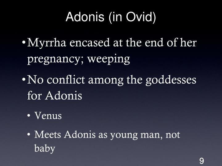 Adonis (in Ovid)