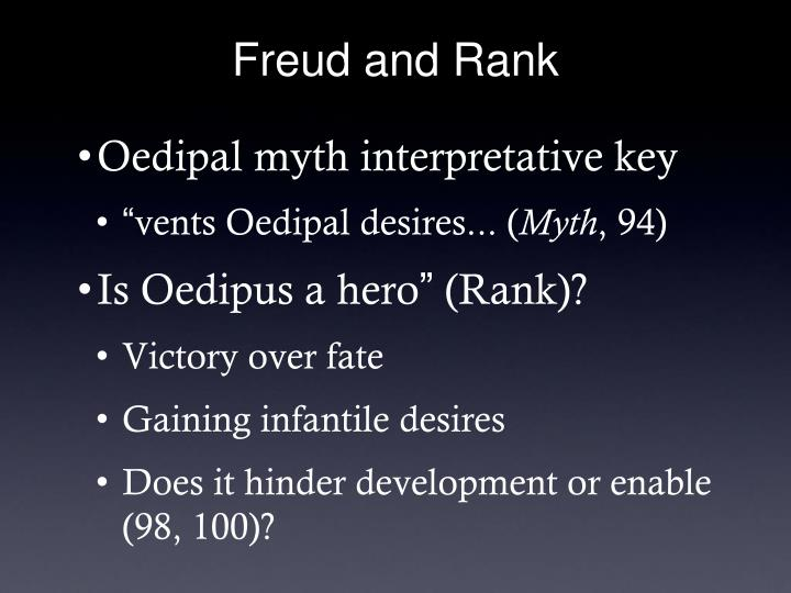 Freud and Rank