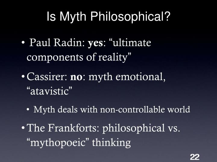 Is Myth Philosophical?