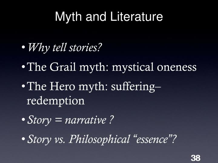 Myth and Literature