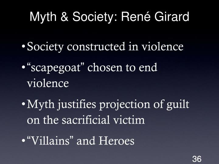 Myth & Society: René Girard