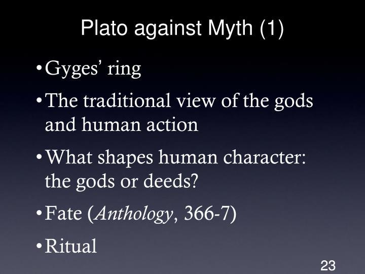 Plato against Myth (1)