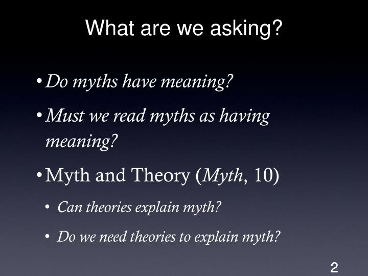 What are we asking?